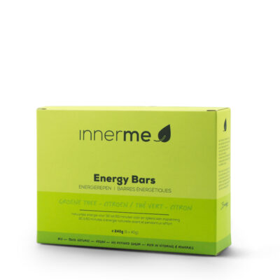 Barras Energéticas Chá Verde & Limão, biológicas & Vegan (caixa de 6)
