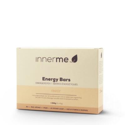 Barras Energéticas Baunilha Innerme, 100% biológicas e vegetais (caixa de 6 barras)