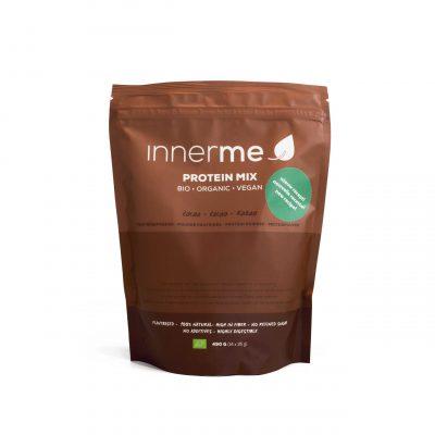 Mix Proteína Cacau Bio INNERME, 100% Natural, Biológica e Vegan - embalagem de 490g - Moonsport