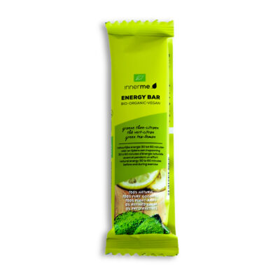 Barras Energéticas Chá Verde & Limão Innerme, 100% biológicas e vegetais (1 un)