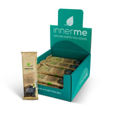 Barras Energéticas Baunilha Innerme (caixa de 20), 100% biológicas e vegan - Moonsport