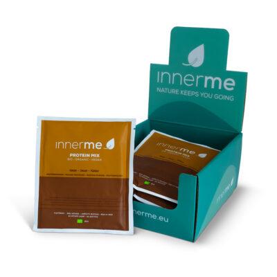 Mix Proteína Cacau Innerme, 100% Natural, Biológico e Vegan - 8 saquetas de 35 g - Moonsport