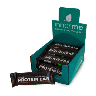 Barras Proteína Cacau Innerme Biológicas & Vegan (caixas de 20) - Moonsport