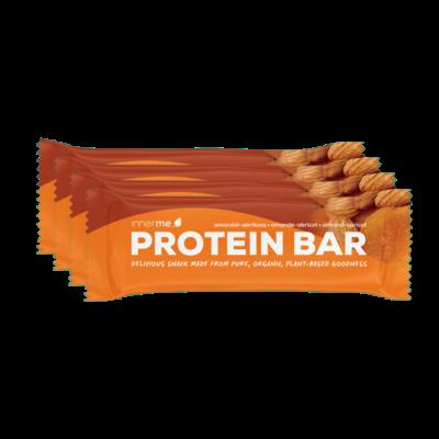 Barra Proteína Amêndoa - Alperce, 100% biológica, natural e vegan Innerme (caixa de 20) - Moonsport