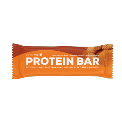 Barra Proteína Amêndoa - Alperce Innerme, 100% biológica, natural e vegan - Moonsport